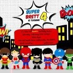 Free Superhero Birthday Party Invitation Templates
