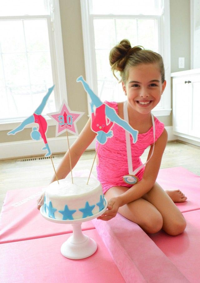 Giant Gymnastics Birthday Party