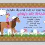 Girl Horse Birthday Party Invitations