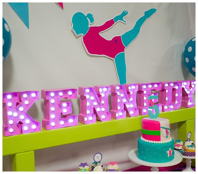 Gymnastic Themed Birthday Party