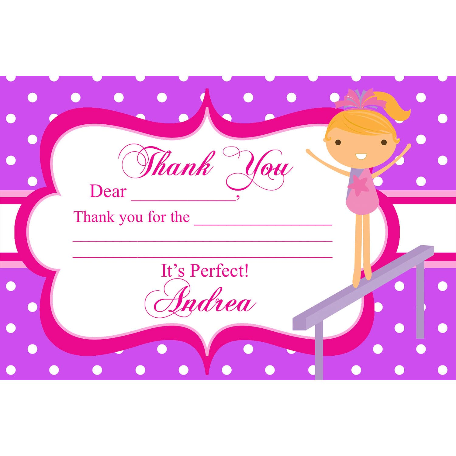 Gymnastics Birthday Party Invitations Printable | Home Party Ideas