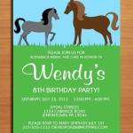 Horse Birthday Party Invitations Printable Free