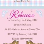 Horse Riding Birthday Party Invitations