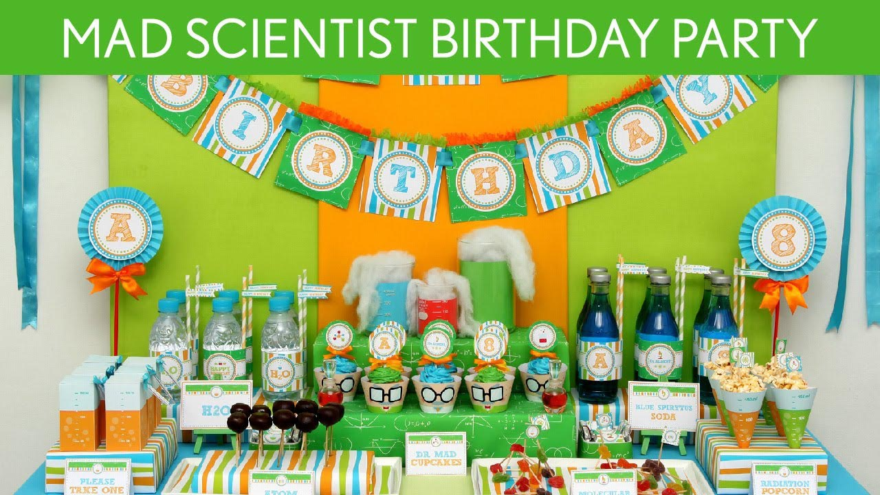Mad science birthday party home party ideas - Party decorations ideas ...