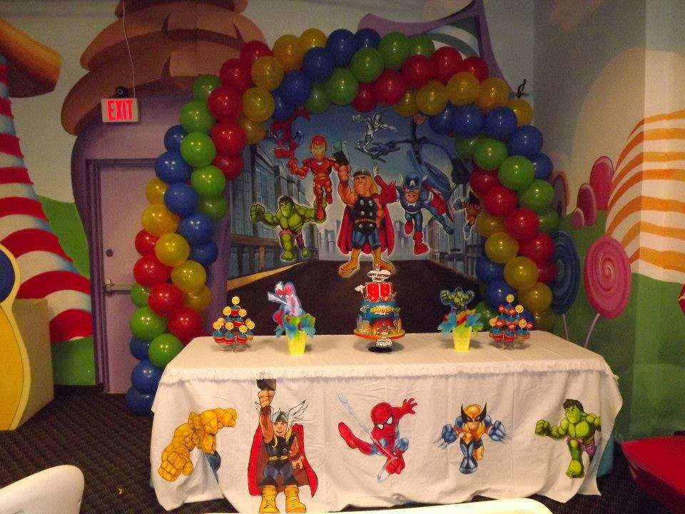Marvel Superheroes Birthday Party