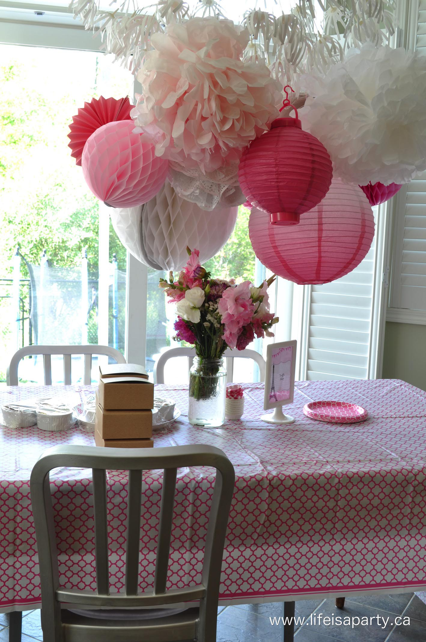 Paris themed birthday party activities home party ideas for All decoration games
