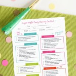 Printable Birthday Party Planner Checklist