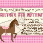 Printable Horse Birthday Party Invitations Free