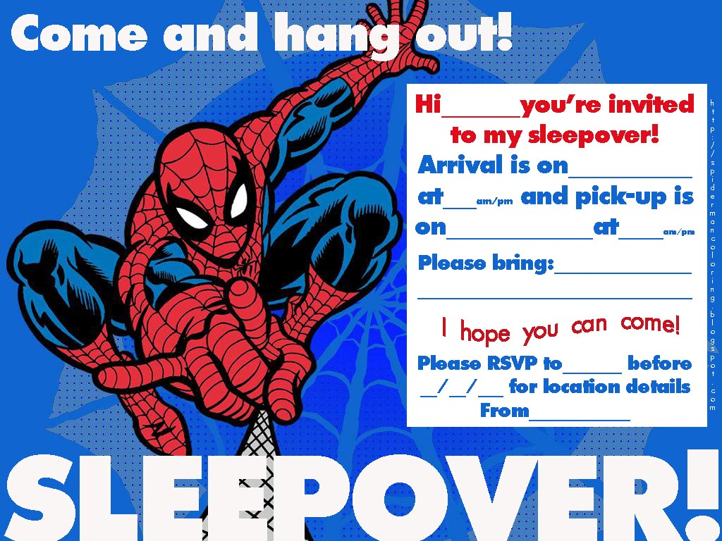 Printable Spiderman Birthday Party Invitations