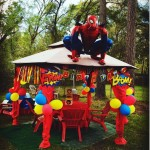 Spiderman at Birthday Party