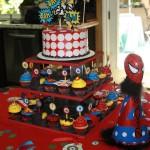Spiderman Birthday Party Centerpieces