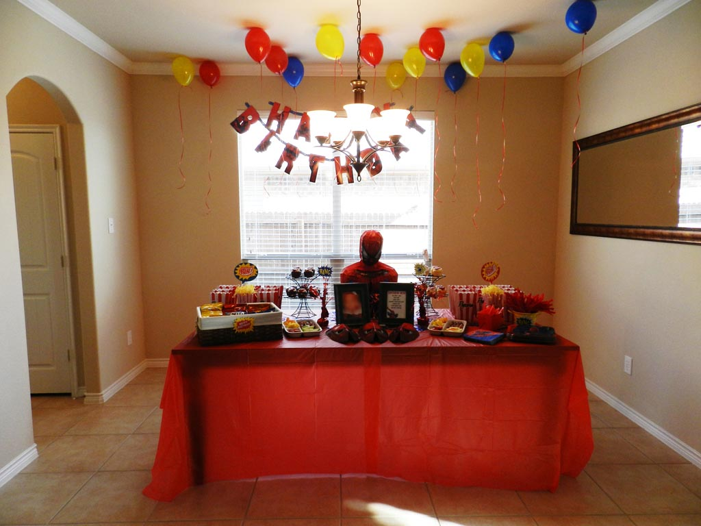 Spiderman Birthday Party Food