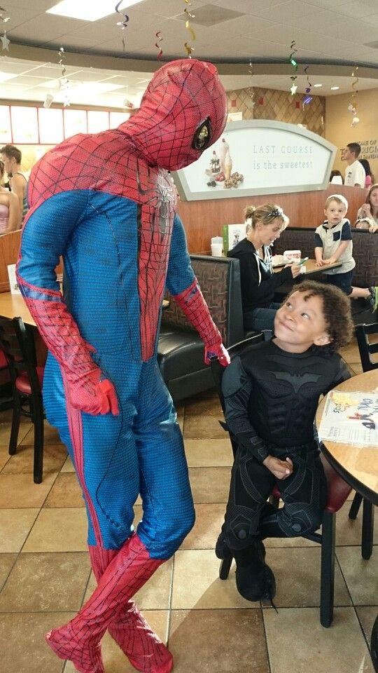 Spiderman Impersonator Birthday Party