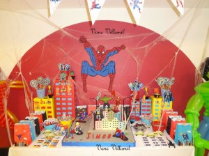 Spiderman Iron Man Birthday Party