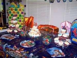Spiderman Themed Birthday Party Decoration