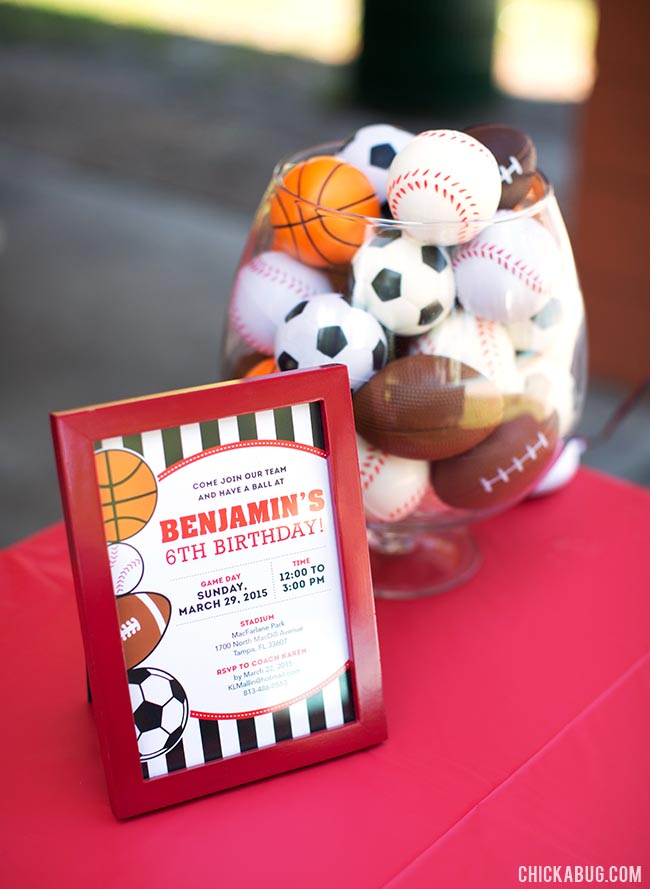 Sports Themed Birthday Party Ideas