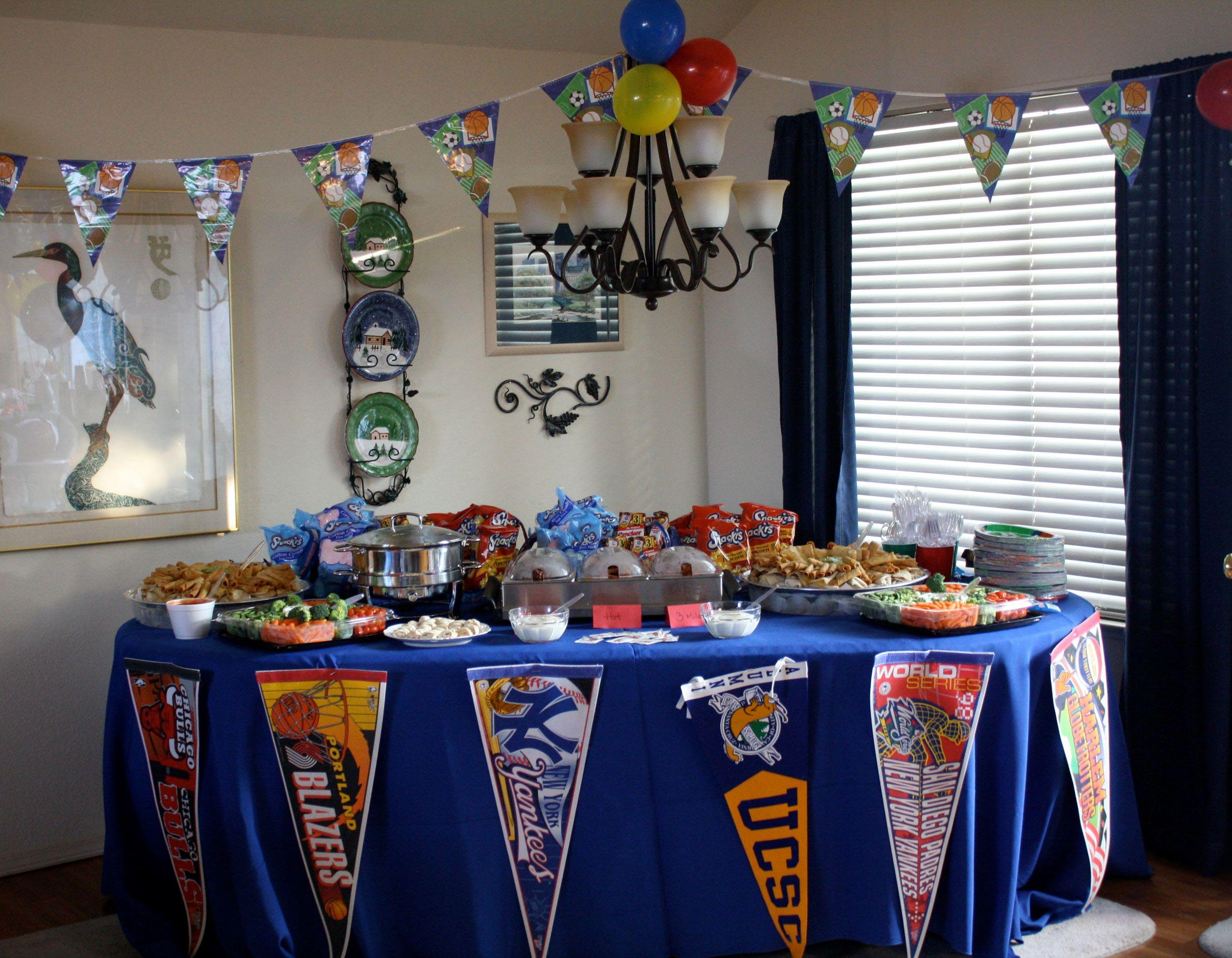 Sports Themed First Birthday Party