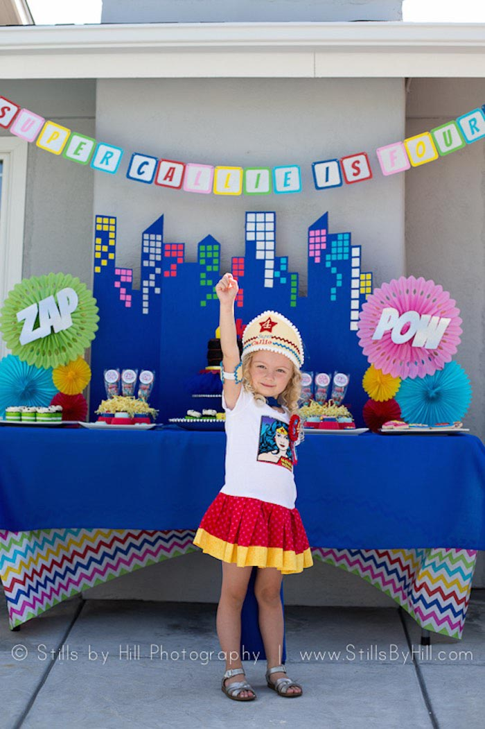 How to arrange a superhero birthday party home party ideas for All decoration games for girls