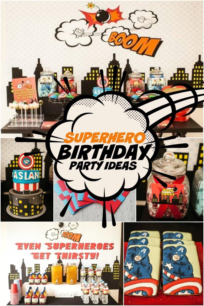 Superhero 5th Birthday Party Ideas