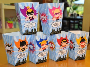 Superhero Birthday Party Centerpieces