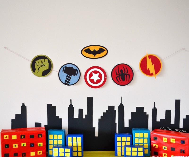 Superhero Birthday Party Crafts