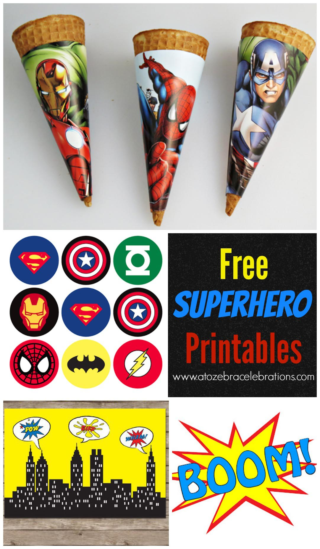 Superhero Birthday Party Free Printables