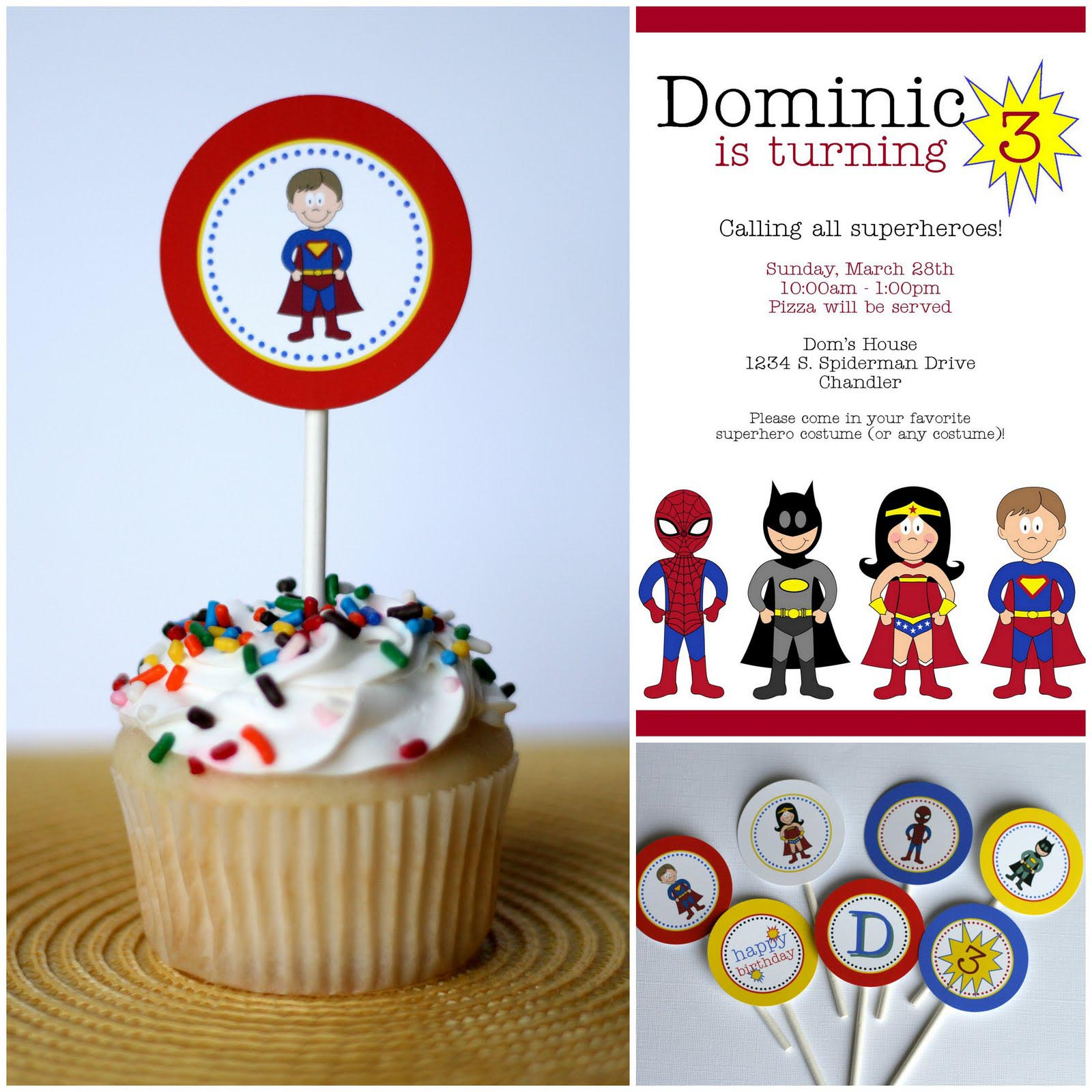Superhero Birthday Party Invitation Wording