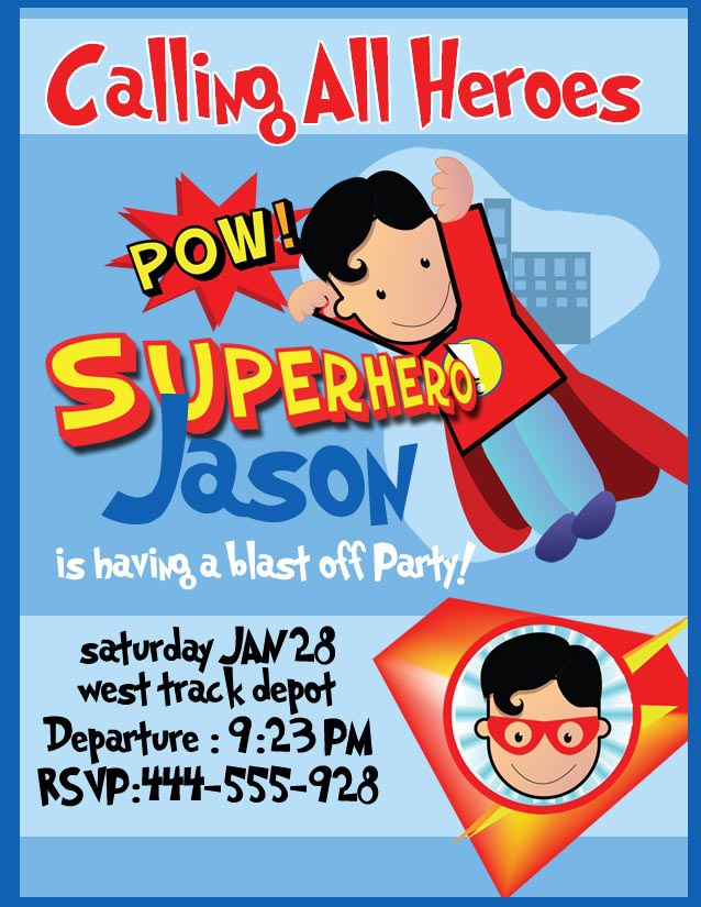 Superhero Birthday Party Invitations Templates Free Home Party Ideas - Free birthday invitation templates superhero