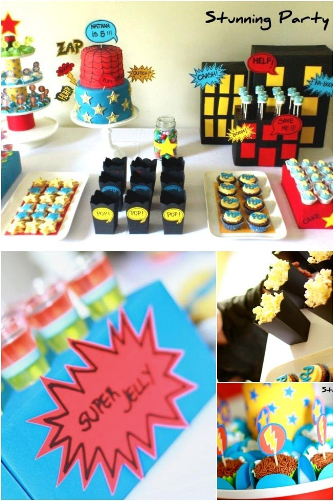 Superhero Birthday Party Snacks