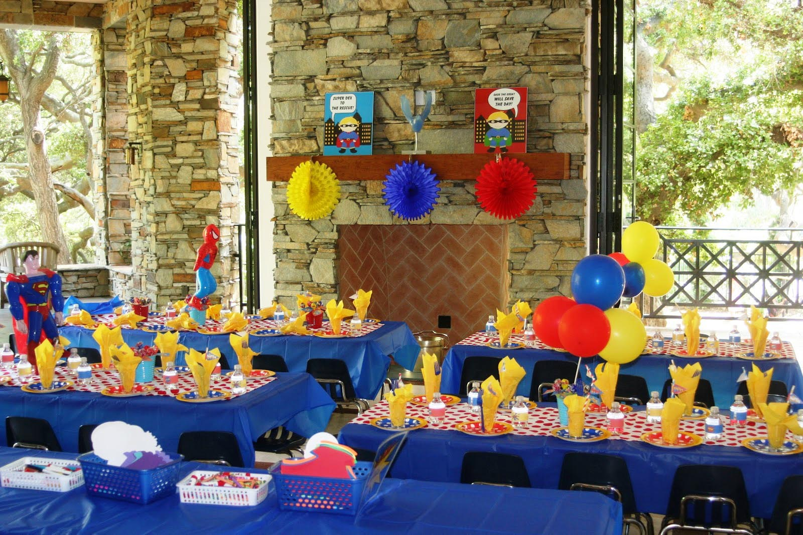 Superhero Birthday Party Theme