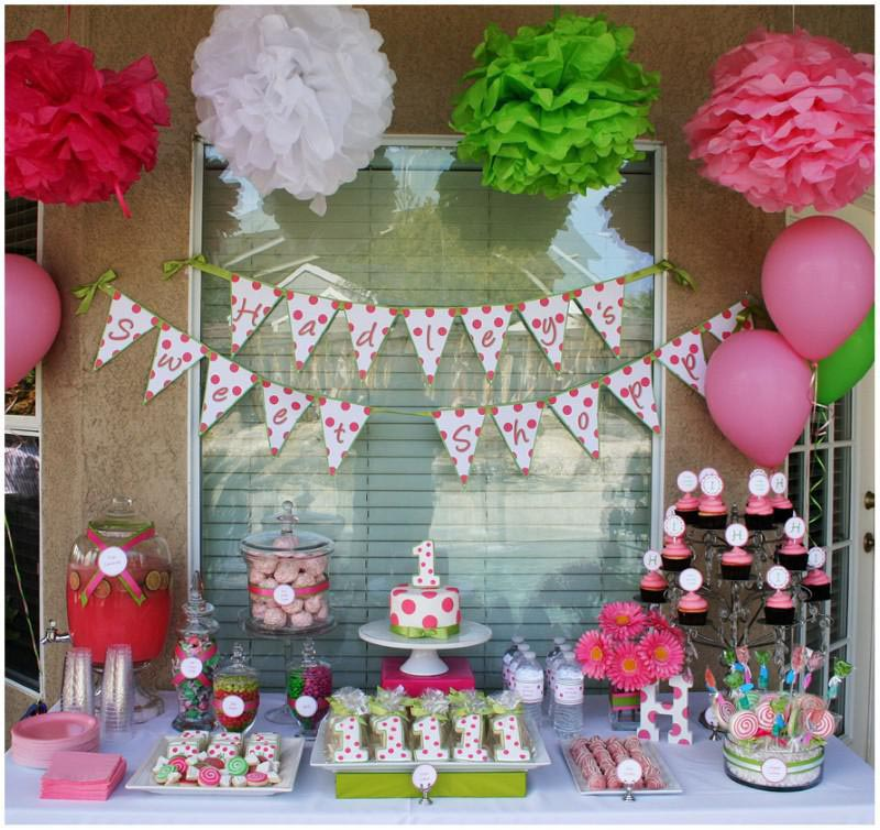 Teen birthday party ideas home party ideas for Baby girl birthday party decoration ideas