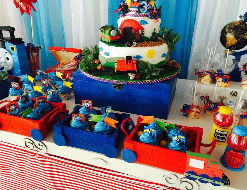 Thomas the Train Themed Birthday Party