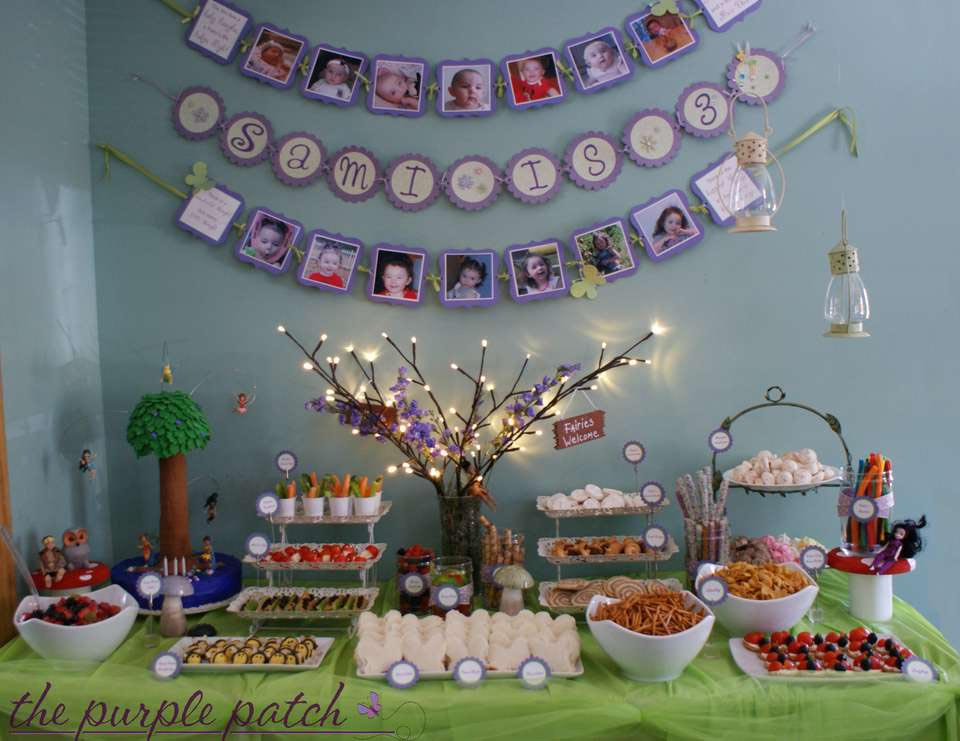 Tinkerbell fairy birthday party home party ideas for Home party plans