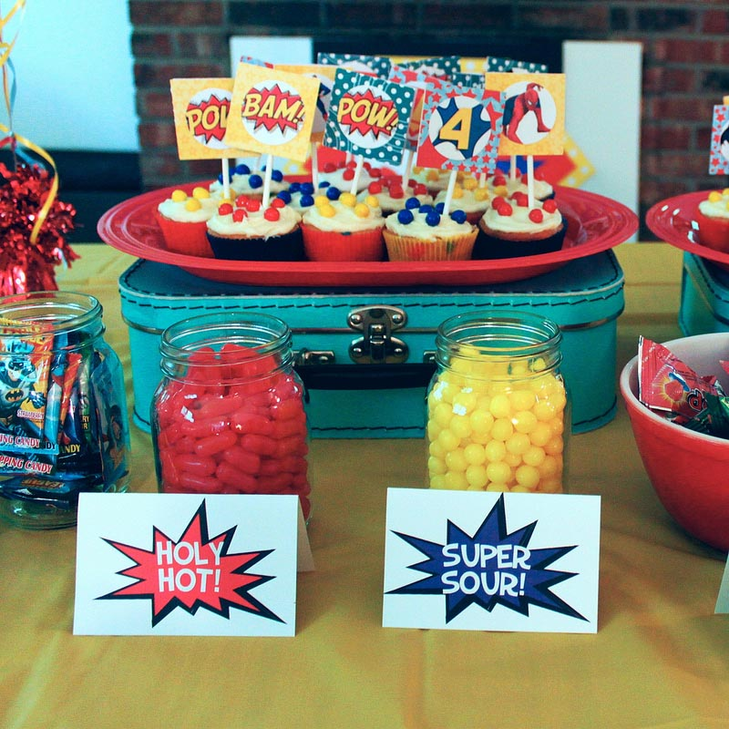 Tori Spelling Superhero Birthday Party