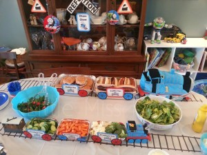 Train Themed Birthday Party Food
