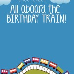 Train Themed Birthday Party Free Printables