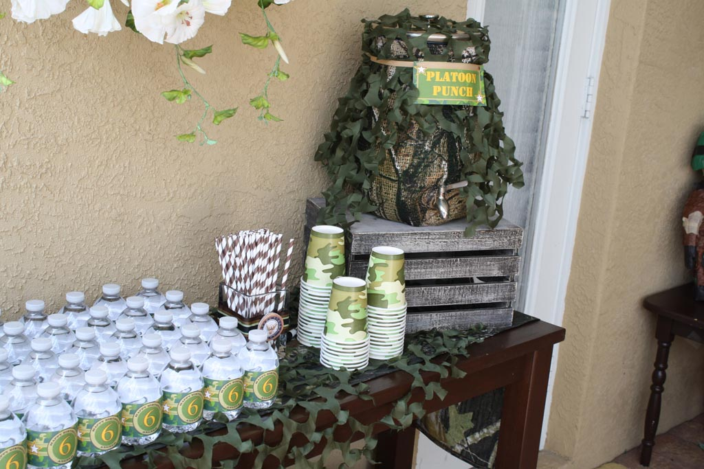 Army birthday party decorations home party ideas for Army party decoration ideas