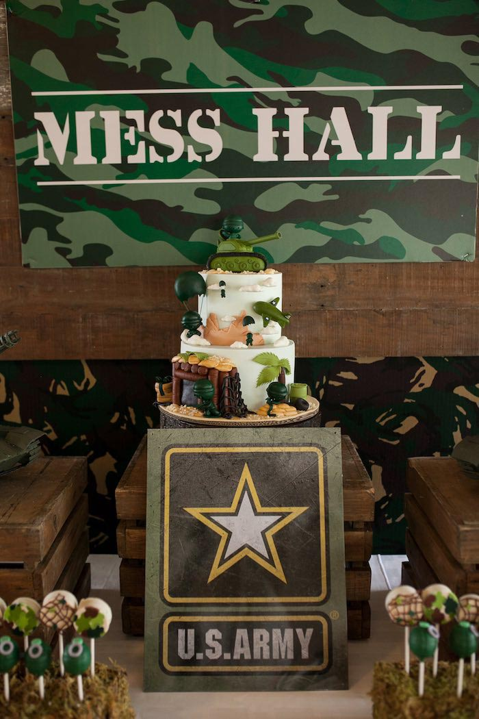 Army Birthday Party Ideas Military Theme