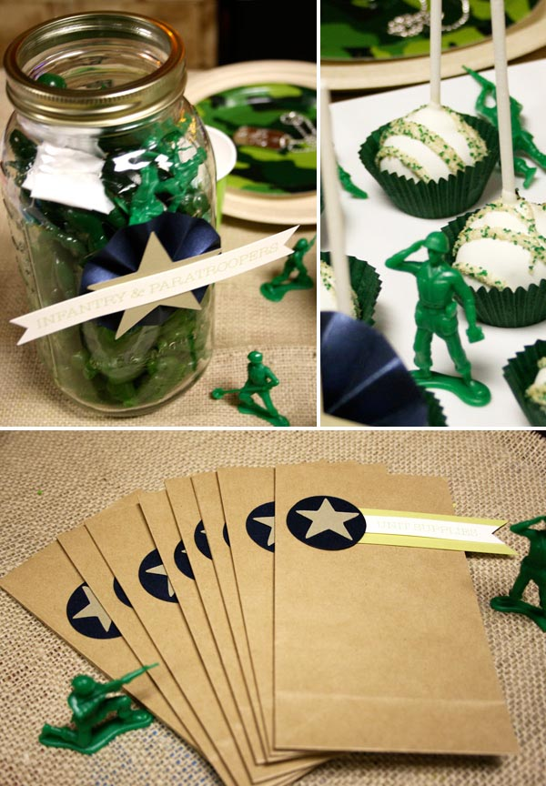 Army birthday party theme home party ideas for Army theme party decoration ideas
