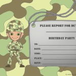 Army Invitations Birthday Party