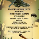 Army Themed Birthday Party Invitations