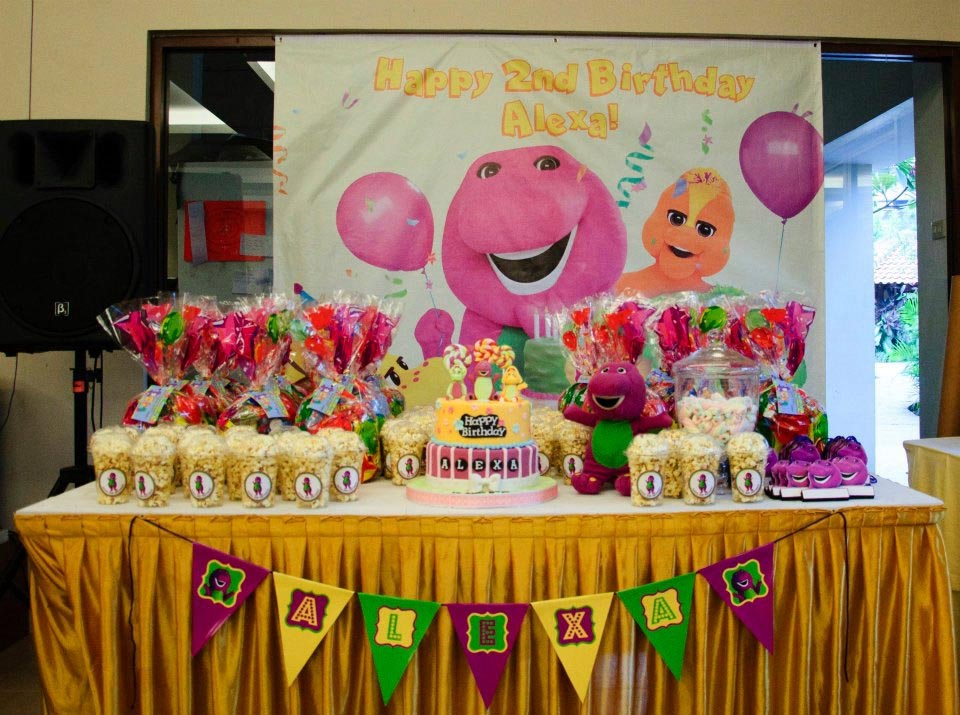 Barney and Friends Birthday Party Decorations