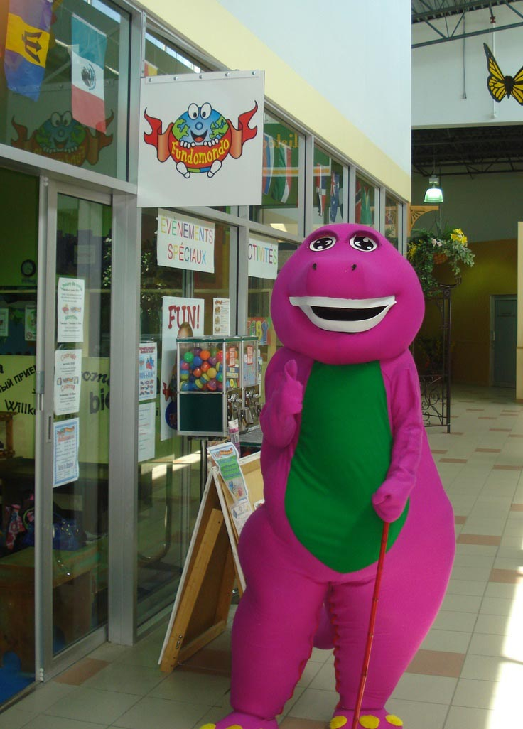 Barney Character for Birthday Party
