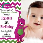 Barney Invitations Birthday Party