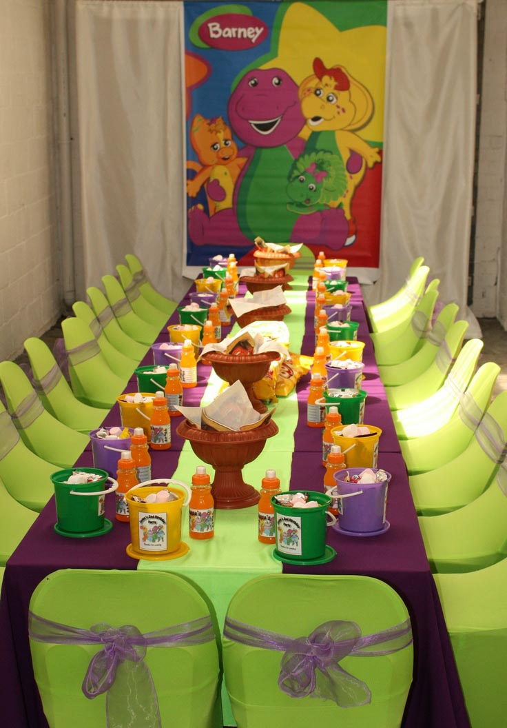 Barney Theme Birthday Party Ideas