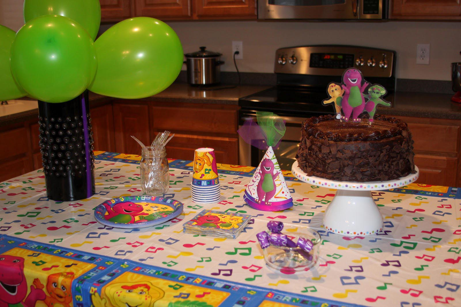 Barney Theme Birthday Party