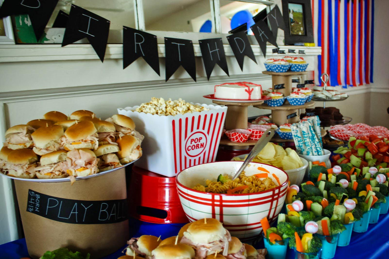 Baseball Birthday Party Food Home Party Ideas