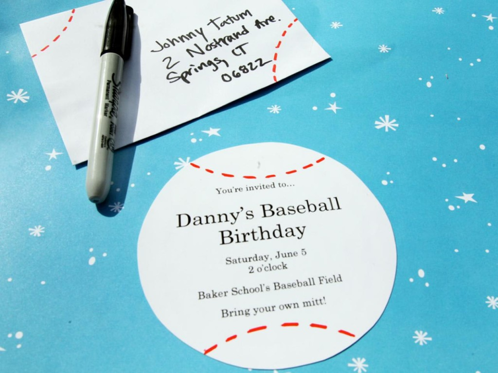 Baseball Birthday Party Invites