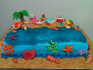 Beach Party Birthday Cake