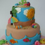 Beach Party Birthday Cakes